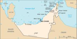 Peta Uni Emirat